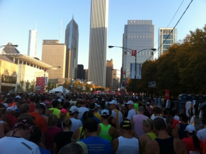 The Chicago Marathon Starting Line -- Look at those Beautiful Buildings