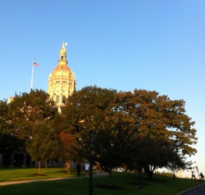 The Connecticut State Capitol at the Starting Line of the 2011 ING Hartford Marathon