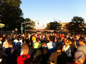 The Mixed Start of the Full and Half Marathons