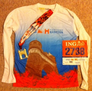Shirt, Bib, and Medal from a Great Race - 2011 ING Hartford Marathon