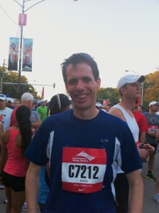 I'm Ready to Go at the Start of the 2011 Bank of America Chicago Marathon