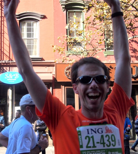 Me at Mile 11.5 of the 2011 ING New York City Marathon